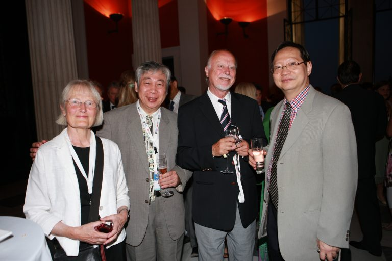 Athens 2011 Congress with  his wife, Prof. Hallonsten and Prof. Shunte Huang, a past president of Taiwan Academy of Pediatric Dentistry and IAPD Past President Dr Tsai